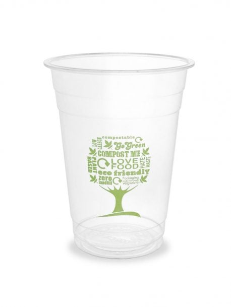 Pla Pint Cups Biodegradable Plastic Cup 20oz