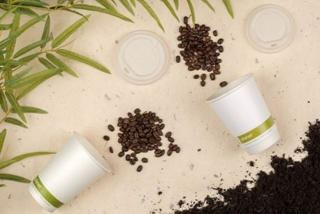Compostable Double wall Coffee Cups Biodegradable Paper Cups